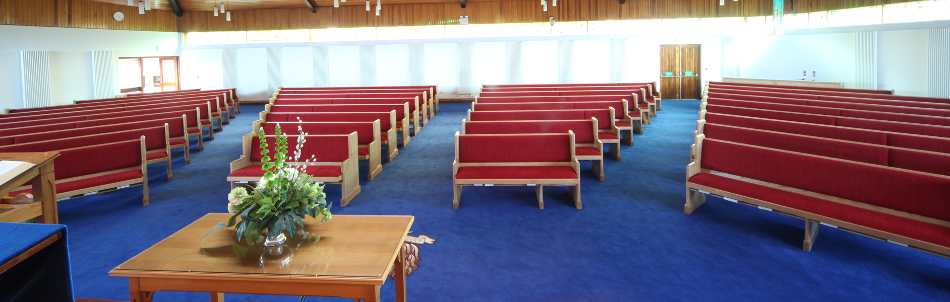 ICS pews in Armagh Free Presbyterian Church