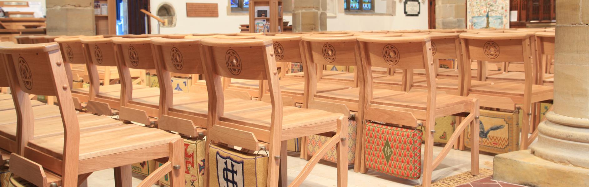 ICS seats in the Holy Trinity Church, Cuckfield