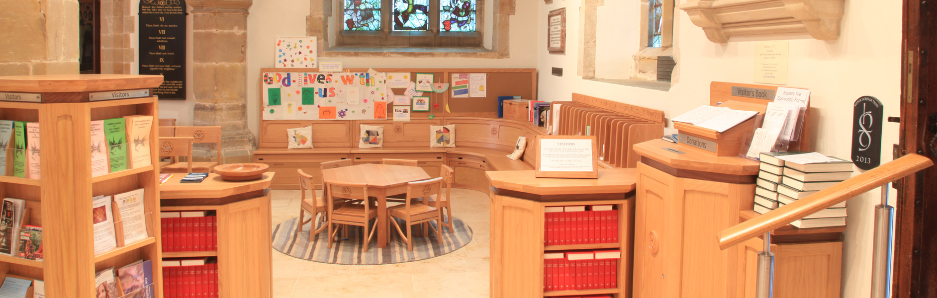 ICS designed a children's area in the Holy Trinity Church, Cuckfield