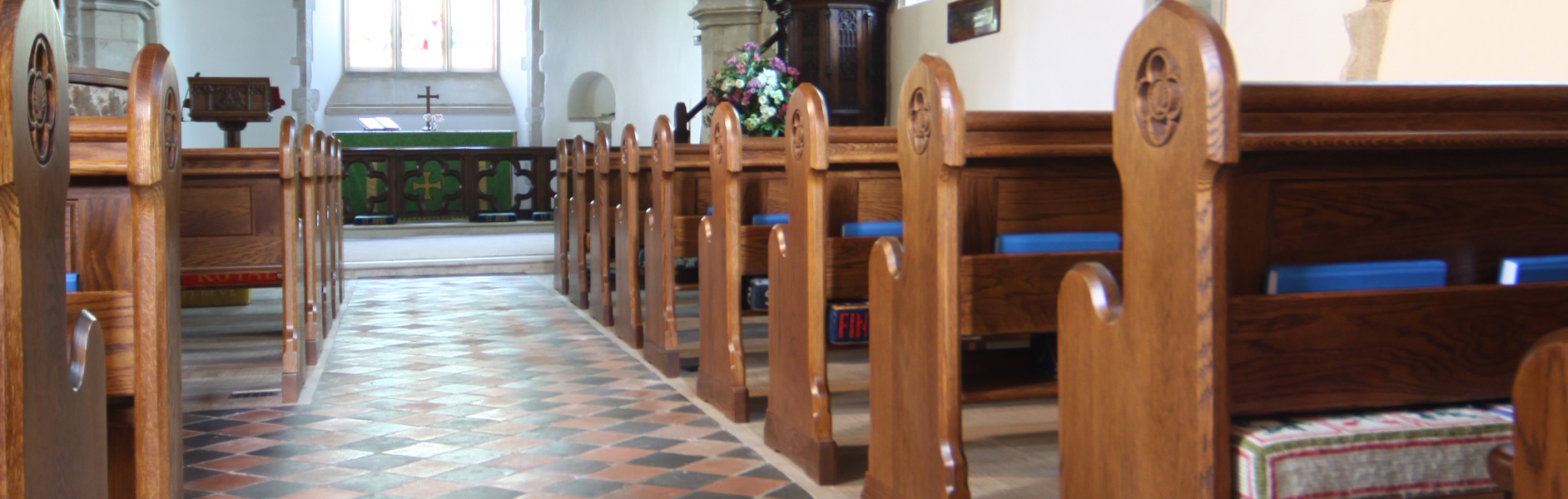 ICS pews designed for St. James' Church Finchemstead