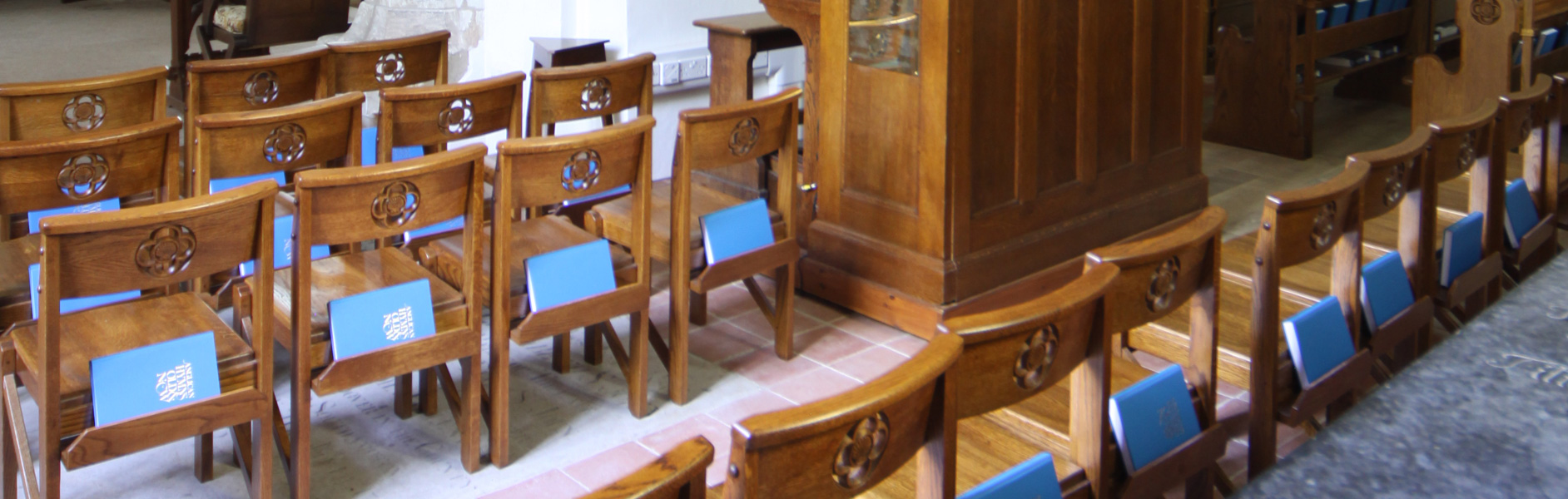 ICS chairs designed for St. James' Church Finchemstead