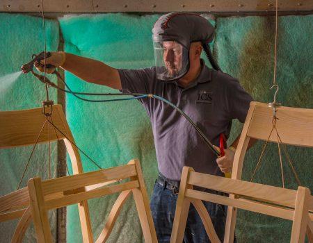 Craftsmanship spraying manufacturing chairs factory bespoke