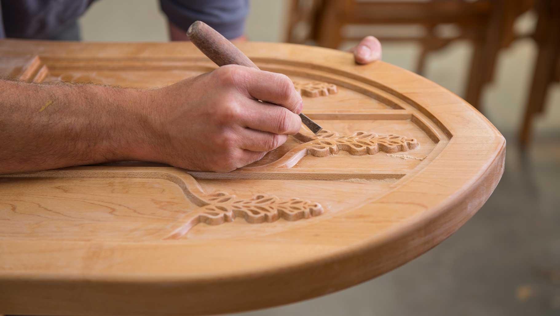 Craftsmanship designing engraving handmade bespoke furniture woodwork mid range