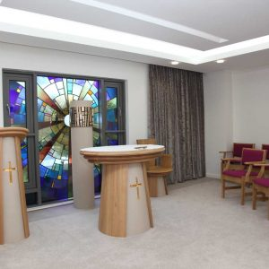 ICS Product Altar Ambo Wooden Chairs Arms Tabernacle Sanctuary Lamp