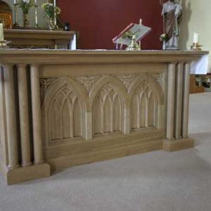 ICS Product altar church bespoke engraving detail