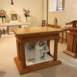 ICS Products Altar Lectern Marble Sculpture Church Tabernacle