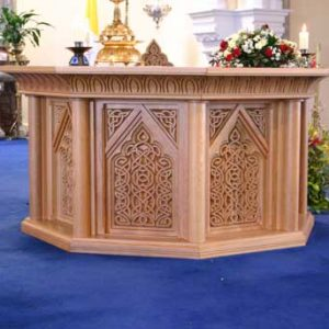 ICS Product Altar Church Engraving Design Detail Bespoke