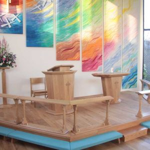ICS Product Altar Chair Communion Rail Poulton-Le-Fylde Methodist Church