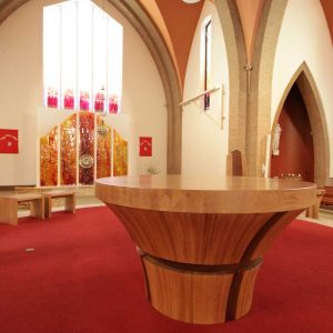 ICS Product Bespoke Altar Round Curve Bespoke Design Benches Saint Peter and Paul's Church Portlaoise