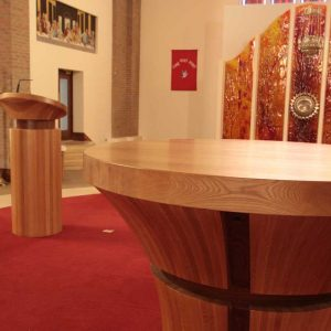 ICS Product Bespoke Altar Round Curve Bespoke Design Saint Peter and Paul's Church Portlaoise