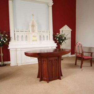 ICS Products Altar Reredos Tabernacle Upholstered Presiders Chair