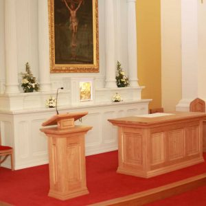 ICS Products Altar Presider's Chair Lectern Tabernacle Reredos Wooden Chair