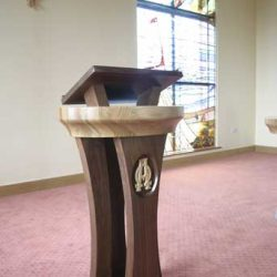 ICS Product Ambo Unique Bespoke Design dark wood book stand