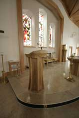 ICS Product ambo left view church bespoke sanctuary furniture