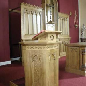 ICS Product Ambo Engraving Book Stand Step Detail Church Wider Angle