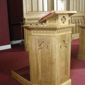 ICS Product Ambo Engraving Book Stand Step Detail Church
