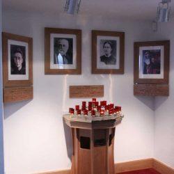 Candelabra shrine candle wooden designed fitted