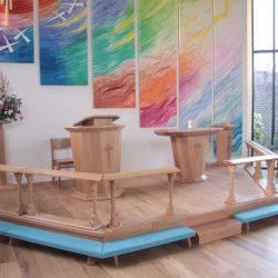 Communion rails kneelers sanctuary furniture chairs altar