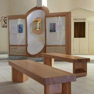 Formes Benches Blackrock Solid Wood Timber Modern Church