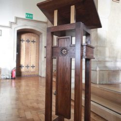 Lectern detailed bespoke unique design front view