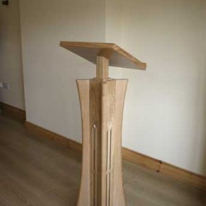 Lectern solid wood columns side view