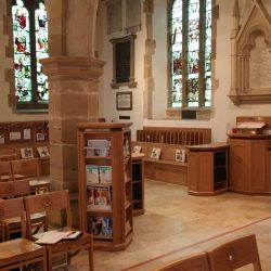 Pamphlet rack church bespoke Cuckfield furniture
