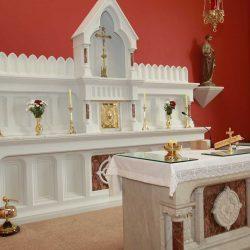 Reredos tabernacle sanctuary altar cross sanctuary lamp bespoke engravings