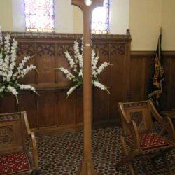 Sanctuary Cross in church curved bespoke design unique