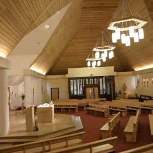 Modern Bench Pew all wooden church design bespoke altar (2)