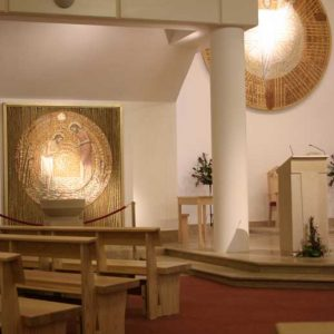 Modern Bench Pew all wooden church design bespoke altar