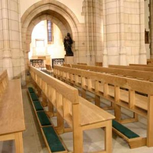 Modern Bench Pew portrait all wooden frontals large church cathedral (4)