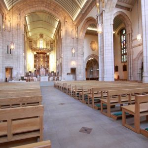 Modern Bench Pew portrait all wooden frontals large church cathedral (2)