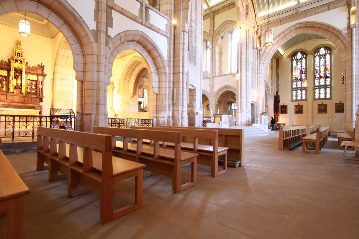 Modern Bench Pew landscape all wooden frontals large church cathedral