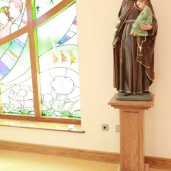 Statue Stand bespoke design engravings shape cut out worship space