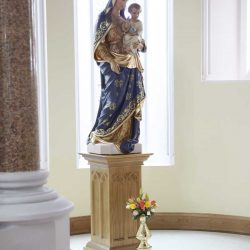 Statue stand bespoke the virgin Mary engravings elegant