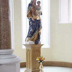 Statue stand bespoke the virgin Mary engravings elegant