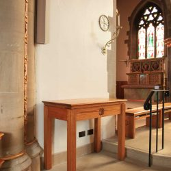 Table engraving sanctuary furniture bespoke