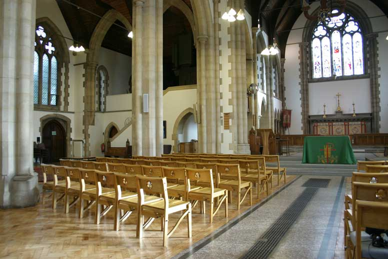 Chairs stacking landscape church all wooden stackable bookshelf bespoke back cut out design nave