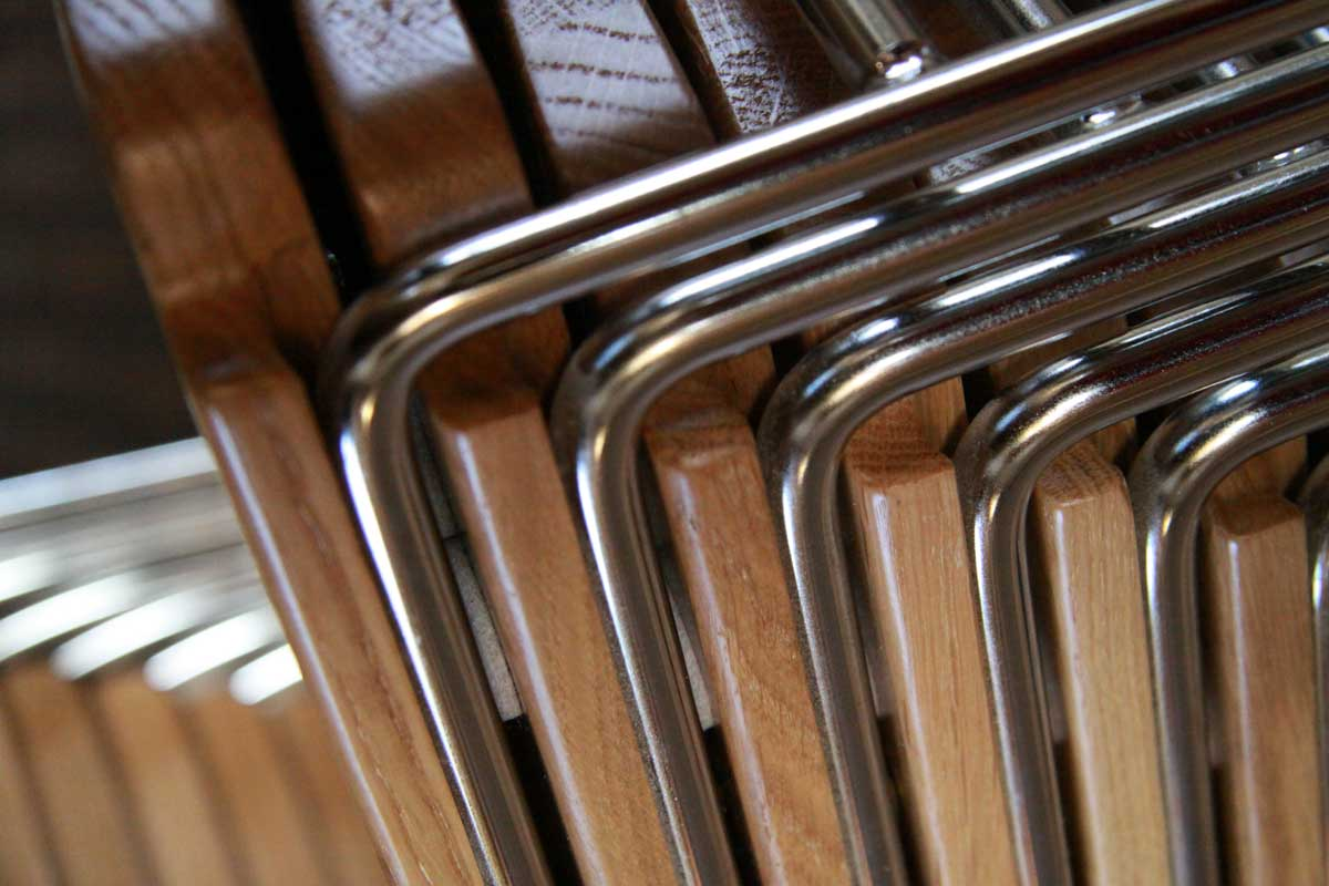 Chairs stacking close up metal frame chairs design for efficient compact storage