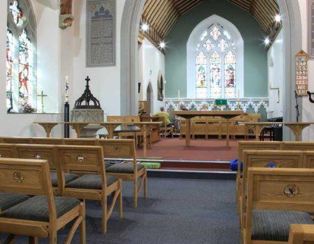 Chadderton Bench Communion Rail sanctuary furniture bespoke woodwork and craft