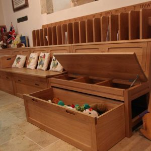 Cuckfield chest of toys bespoke open and removable slide out