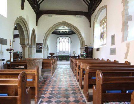 Finchemstead Landscape Pews bespoke engraved book shelves baptismal font (2)