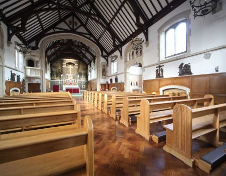 Horsham landscape church view pews kneelers engravings bespoke front
