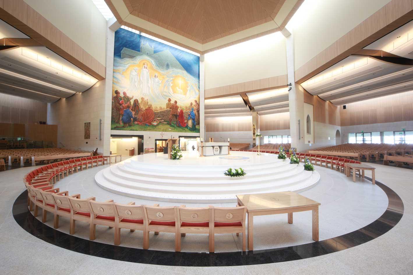 Knock Basilica Sanctuary chairs furniture red upholstered shrine bespoke (3)