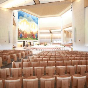 Knock Basilica auditorium flip seating innovative bespoke design (2)