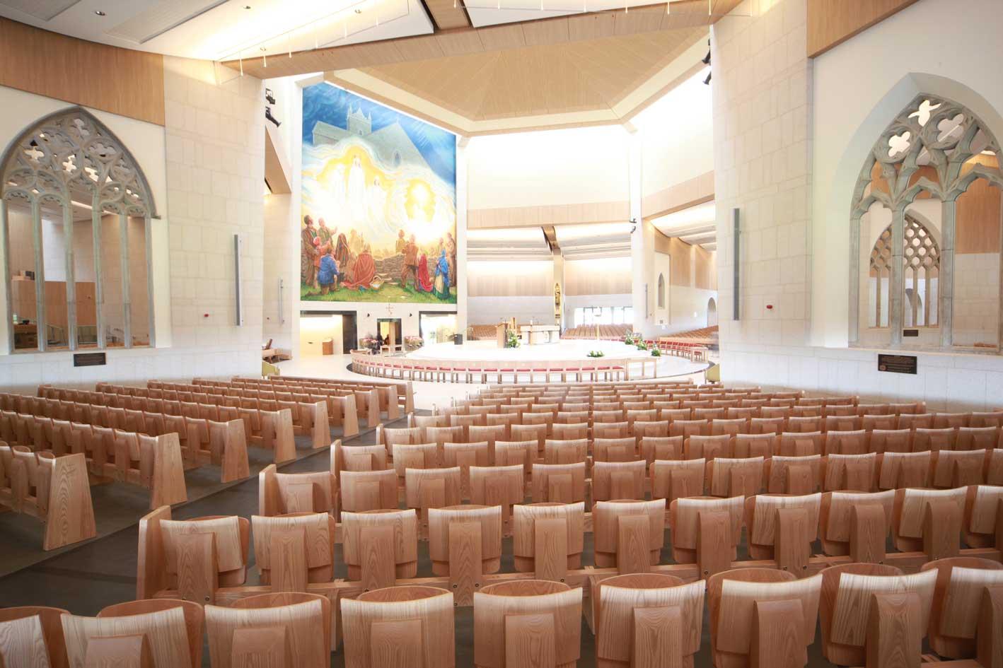 Knock Basilica auditorium flip seating innovative bespoke design (2)