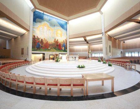 Knock Basilica Sanctuary chairs furniture red upholstered shrine bespoke