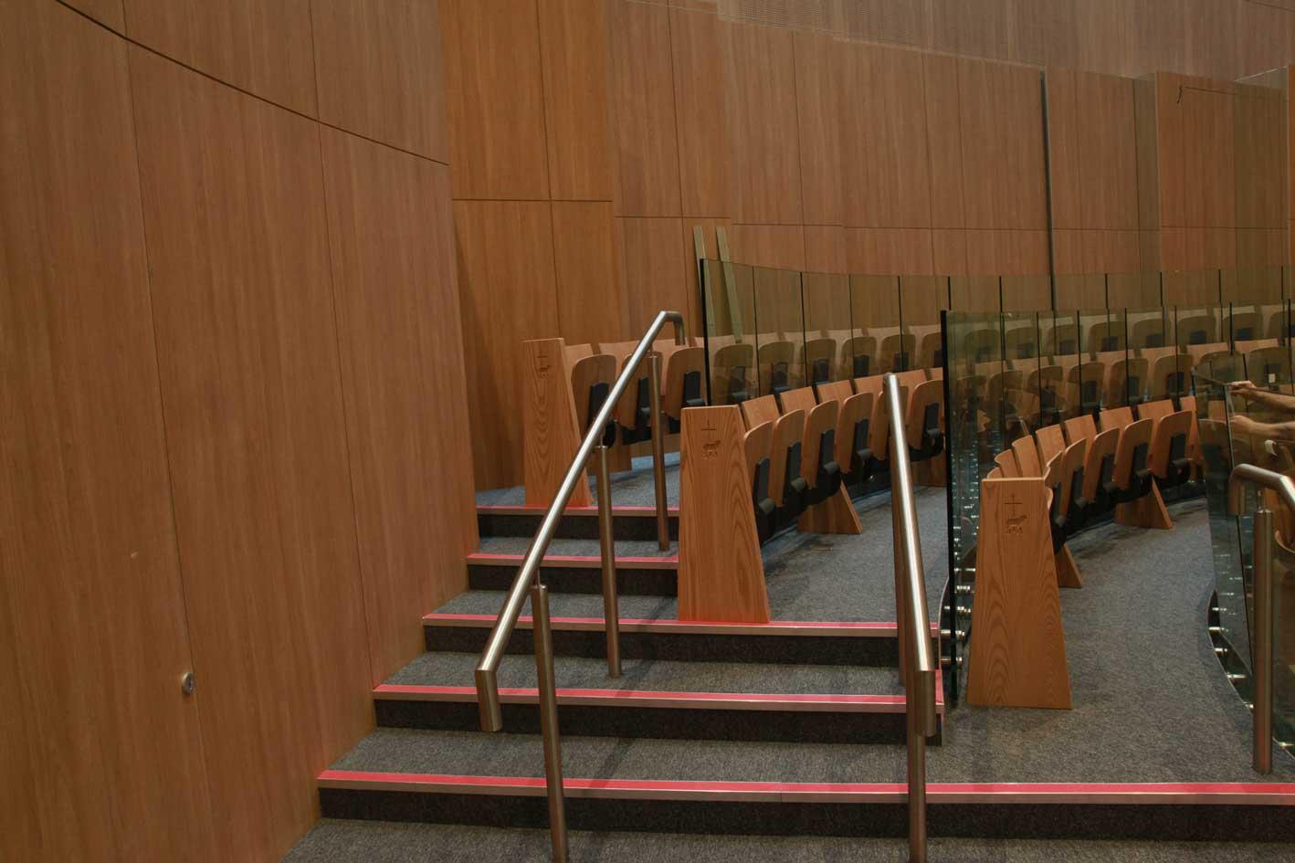 Knock Basilica seating furniture flip up auditorium bespoke innovative design