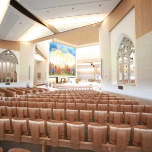 Knock Basilica auditorium flip seating innovative bespoke design (3)