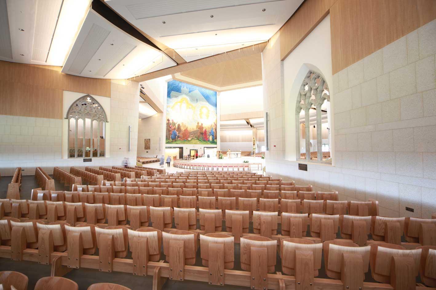 Knock Basilica auditorium flip seating innovative bespoke design (3)